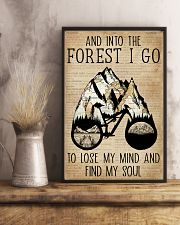 Dictionary Vintage Map And Into The Forest Cycling 11x17 Poster lifestyle-poster-3