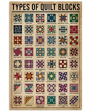 Types Of Quilt Block 11x17 Poster front