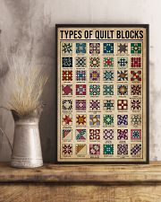 Types Of Quilt Block 11x17 Poster lifestyle-poster-3