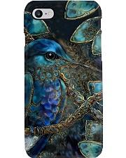 Hummingbird Blue Art Phone Case i-phone-7-case