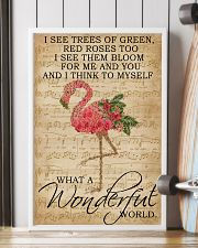 Music Sheet And I Think Flamingo 16x24 Poster lifestyle-poster-4