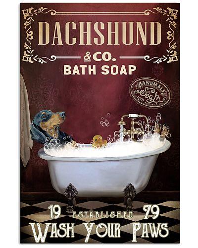 Red Supine Bath Soap Dachshund