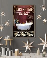 Red Supine Bath Soap Dachshund 11x17 Poster lifestyle-holiday-poster-1