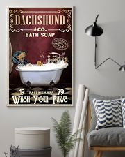 Red Supine Bath Soap Dachshund 11x17 Poster lifestyle-poster-1