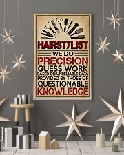 Hairstylist We Do Precision Guess Work 11x17 Poster lifestyle-holiday-poster-1