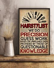 Hairstylist We Do Precision Guess Work 11x17 Poster lifestyle-poster-3