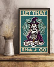Retro Let That Witch Yoga 11x17 Poster lifestyle-poster-3