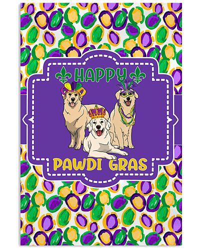 Funny Pawdi Gras Golden Retrievers