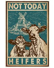 Retro Green Not Today Heifers 11x17 Poster front