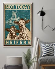 Retro Green Not Today Heifers 11x17 Poster lifestyle-poster-1