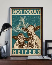 Retro Green Not Today Heifers 11x17 Poster lifestyle-poster-2
