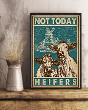 Retro Green Not Today Heifers 11x17 Poster lifestyle-poster-3