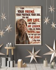 Chocolate Labrador I Am Your Friends 11x17 Poster lifestyle-holiday-poster-1