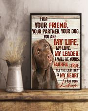 Chocolate Labrador I Am Your Friends 11x17 Poster lifestyle-poster-3