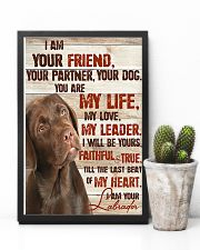 Chocolate Labrador I Am Your Friends 11x17 Poster lifestyle-poster-8