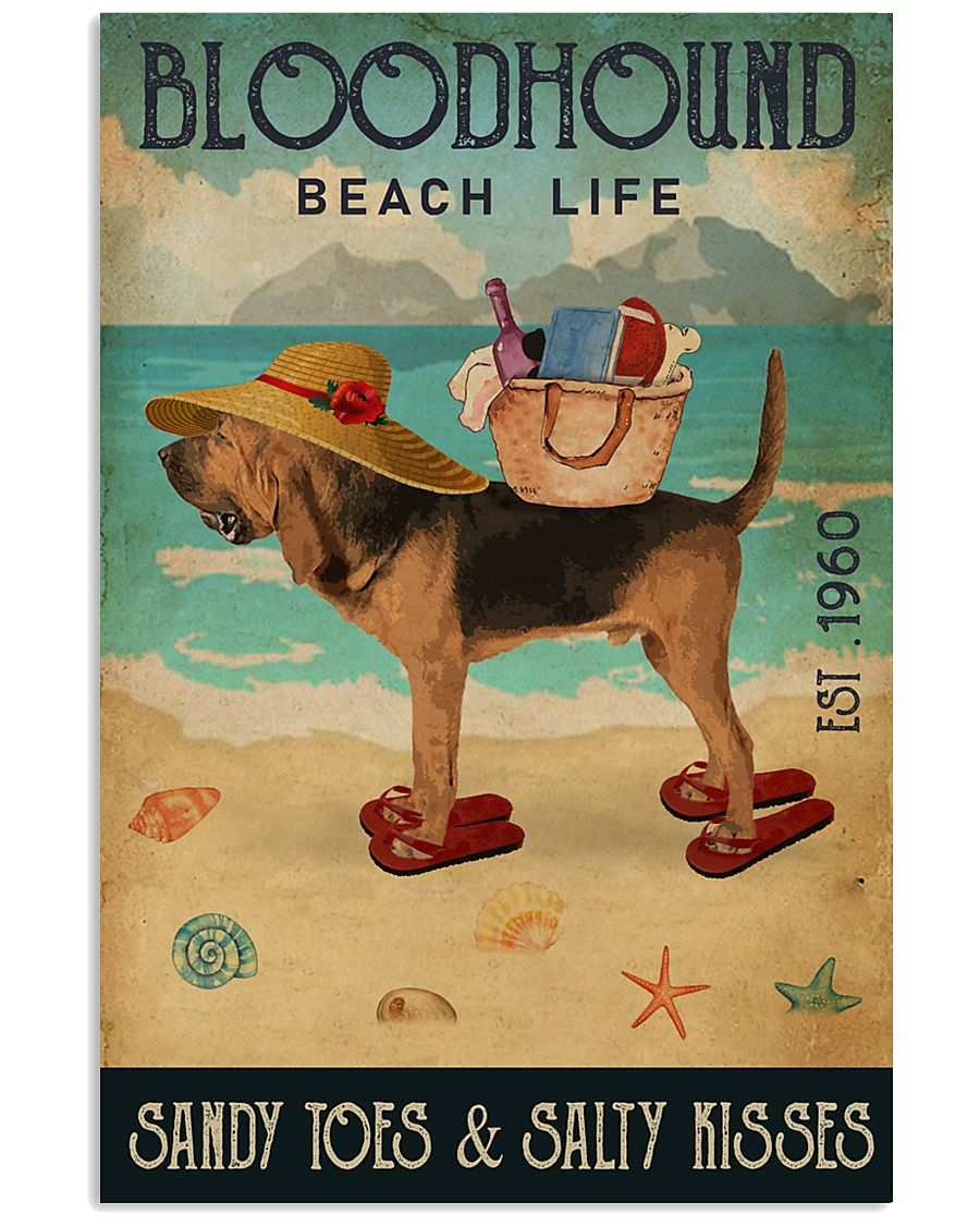 Beach Life Sandy Toes Bloodhound 11x17 Poster