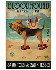 Beach Life Sandy Toes Bloodhound 11x17 Poster front