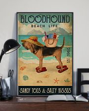 Beach Life Sandy Toes Bloodhound 11x17 Poster lifestyle-poster-2