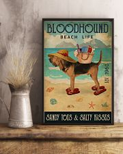Beach Life Sandy Toes Bloodhound 11x17 Poster lifestyle-poster-3