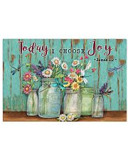 Green Pallet Dragonfly Today I Choose Joy 17x11 Poster front