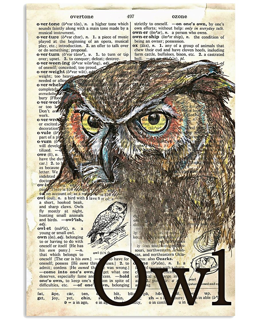 Dictionary Poster Owl 11x17 Poster