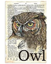 Dictionary Poster Owl 11x17 Poster front