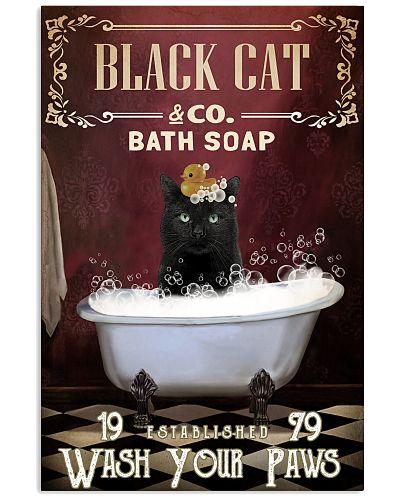 Red Bath Soap Black Cat