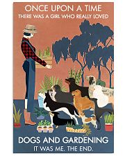Vintage Once Upon A Time Dogs Gardening 11x17 Poster front