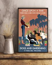Vintage Once Upon A Time Dogs Gardening 11x17 Poster lifestyle-poster-3