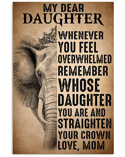 To Daughter Straighten Your Crown Elephant