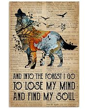 Blue Earth Dictionary Find My Soul Wolf 16x24 Poster front