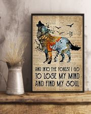 Blue Earth Dictionary Find My Soul Wolf 16x24 Poster lifestyle-poster-3