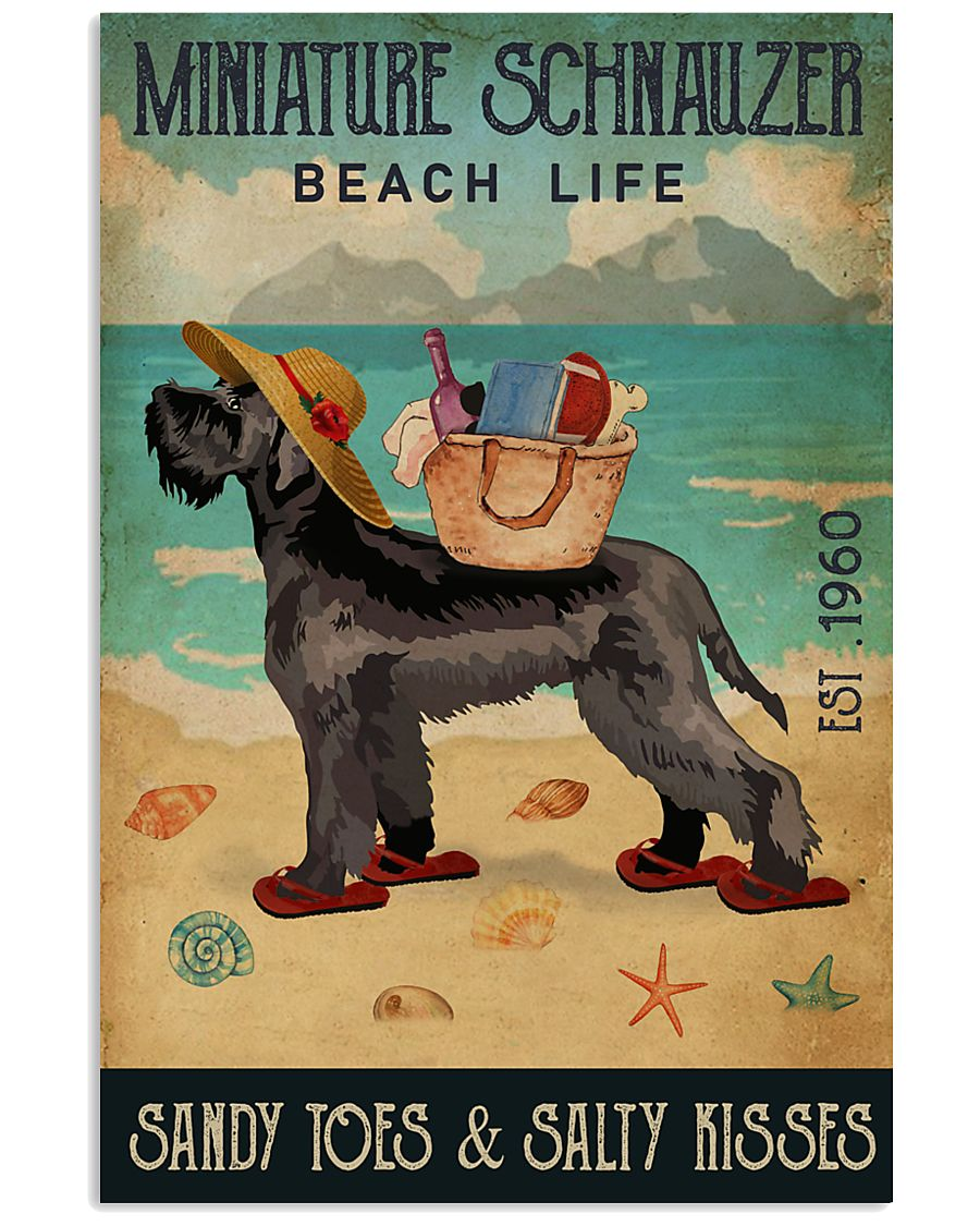 Beach Life Sandy Toes Miniature Schnauzer 11x17 Poster