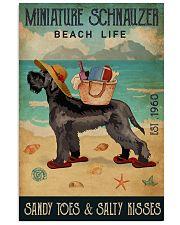 Beach Life Sandy Toes Miniature Schnauzer 11x17 Poster front