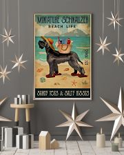 Beach Life Sandy Toes Miniature Schnauzer 11x17 Poster lifestyle-holiday-poster-1