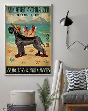 Beach Life Sandy Toes Miniature Schnauzer 11x17 Poster lifestyle-poster-1