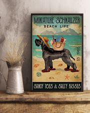 Beach Life Sandy Toes Miniature Schnauzer 11x17 Poster lifestyle-poster-3