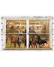 Window The Gate Open Horse 24x16 Poster front