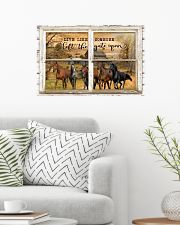 Window The Gate Open Horse 24x16 Poster poster-landscape-24x16-lifestyle-01
