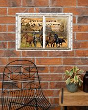 Window The Gate Open Horse 24x16 Poster poster-landscape-24x16-lifestyle-24