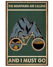 Retro Green The Mountains Are Calling Cycling 11x17 Poster front