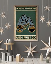 Retro Green The Mountains Are Calling Cycling 11x17 Poster lifestyle-holiday-poster-1