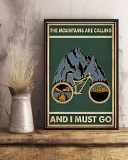 Retro Green The Mountains Are Calling Cycling 11x17 Poster lifestyle-poster-3