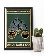 Retro Green The Mountains Are Calling Cycling 11x17 Poster lifestyle-poster-8