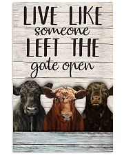 White Pallet Left The Gate Open Angus Cattle 11x17 Poster front
