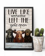 White Pallet Left The Gate Open Angus Cattle 11x17 Poster lifestyle-poster-8