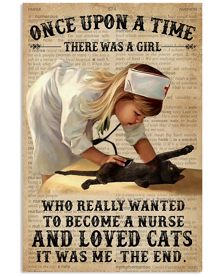 Baby Girl Nurse And Cat Black Cat 11x17 Poster