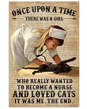 Baby Girl Nurse And Cat Black Cat 11x17 Poster front