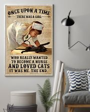 Baby Girl Nurse And Cat Black Cat 11x17 Poster lifestyle-poster-1
