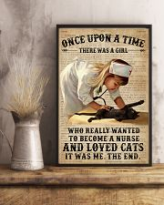 Baby Girl Nurse And Cat Black Cat 11x17 Poster lifestyle-poster-3